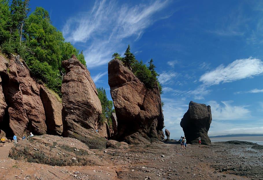 Vue sur les Rochers Hopewell au Nouveau-Brunswick