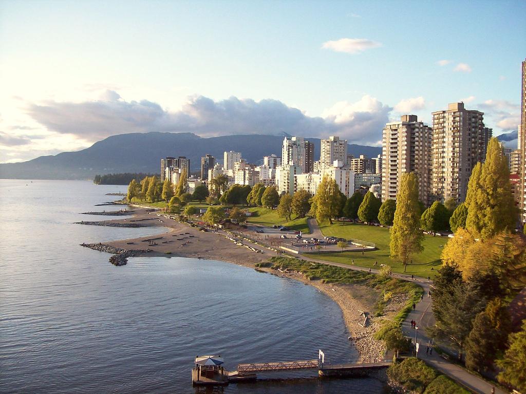 Vue panoramique de English-Bay à Vancouver.
