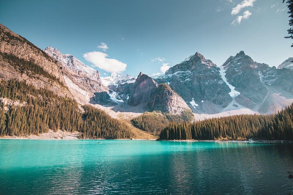 Banff et ses montagnes rocheuses.