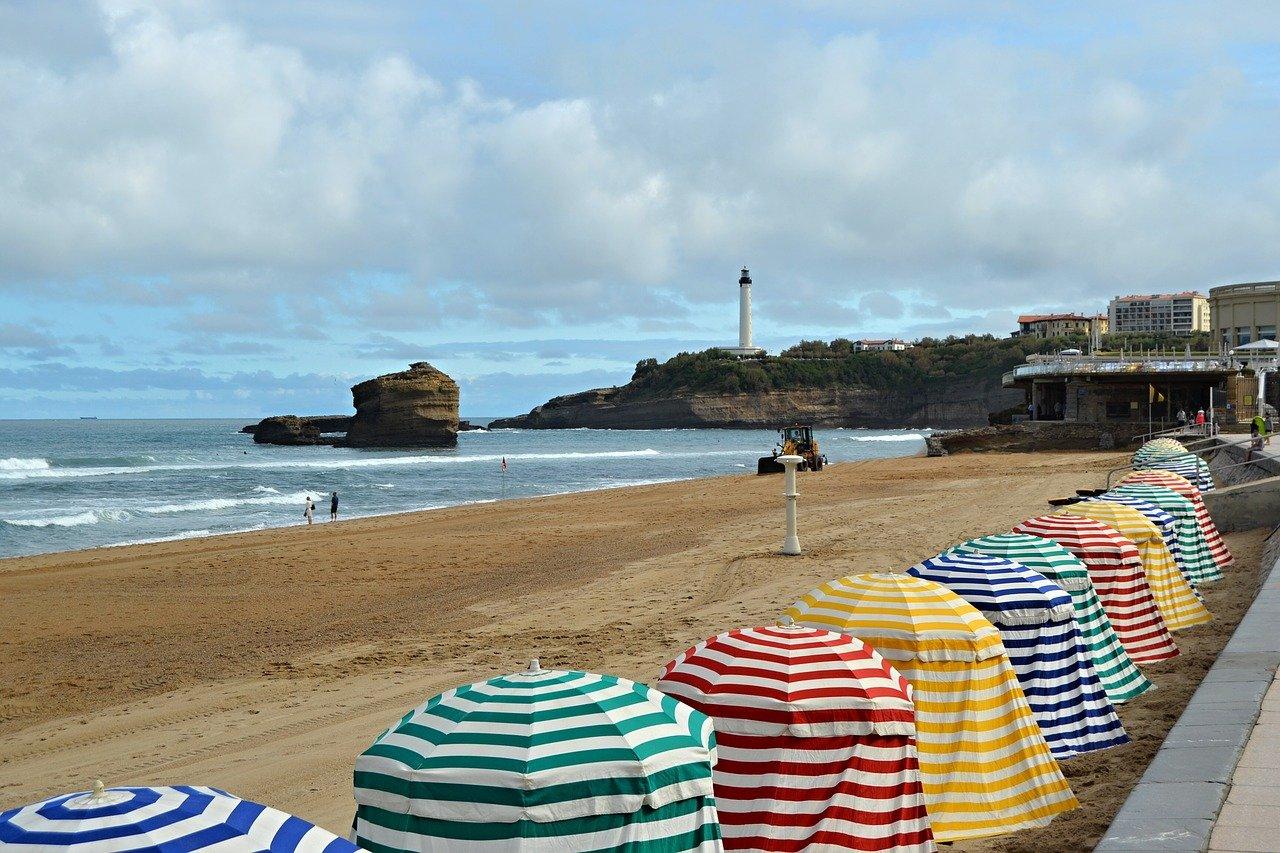Vue sur une plage du Pays Basque