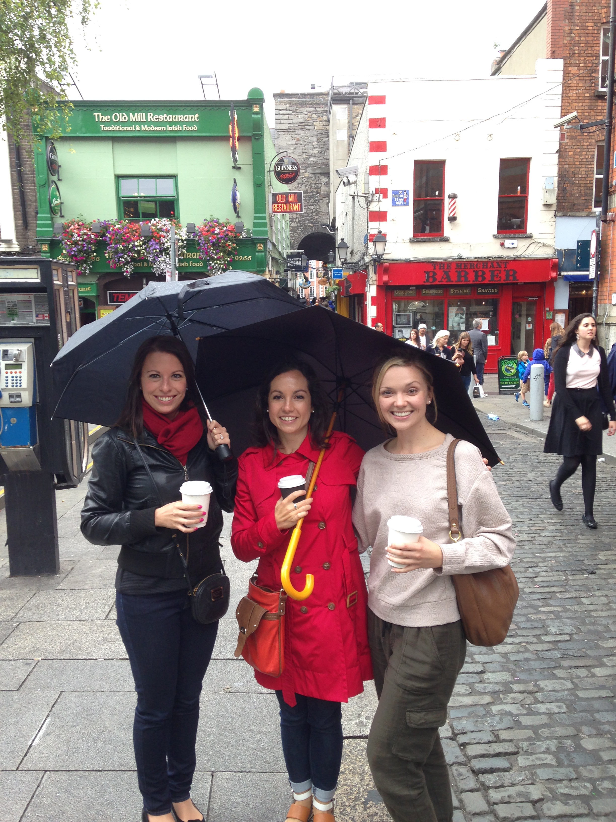 Students in Temple Bar District in Dublin