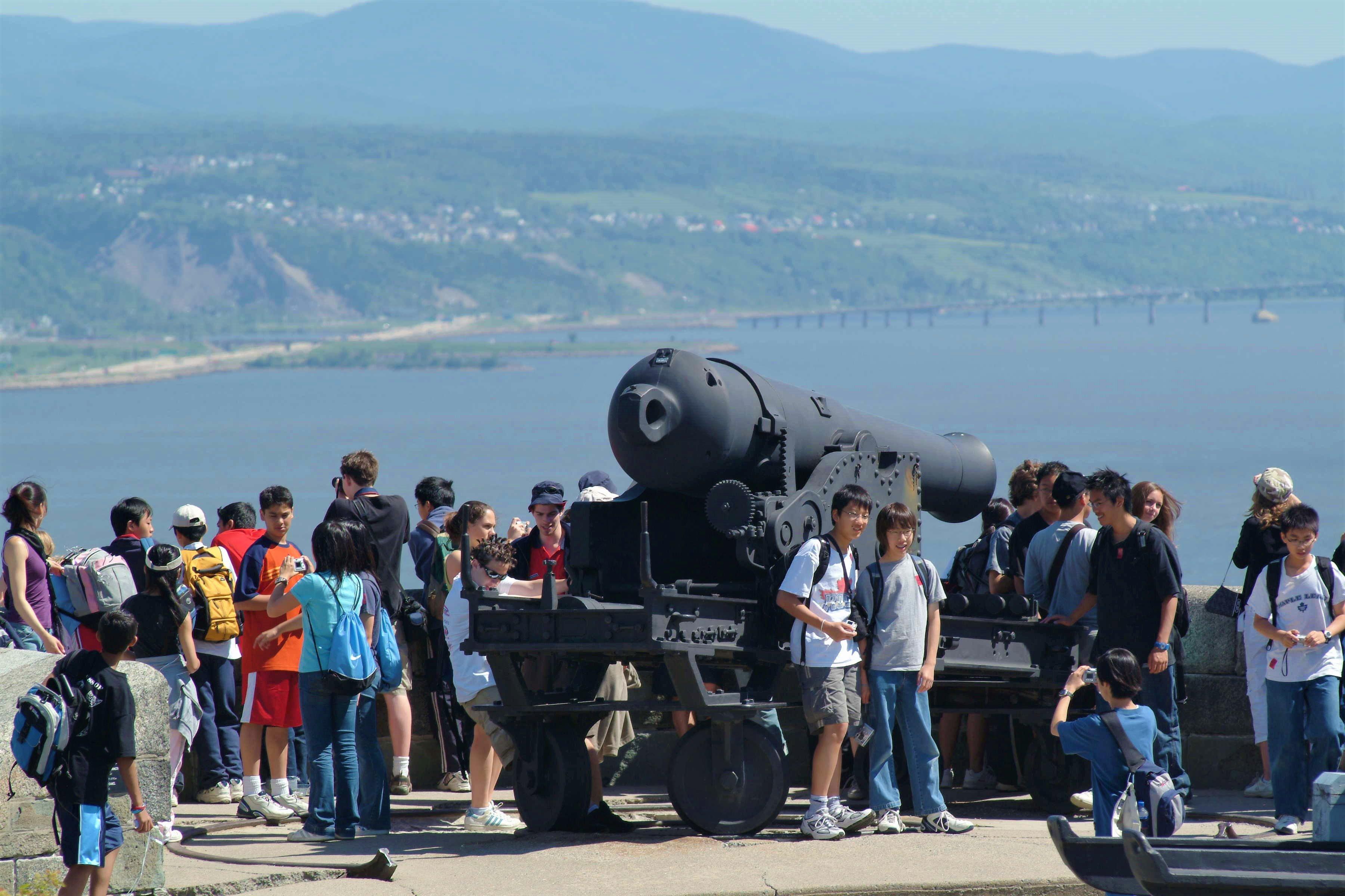 Groupe à la Citadelle de Québec