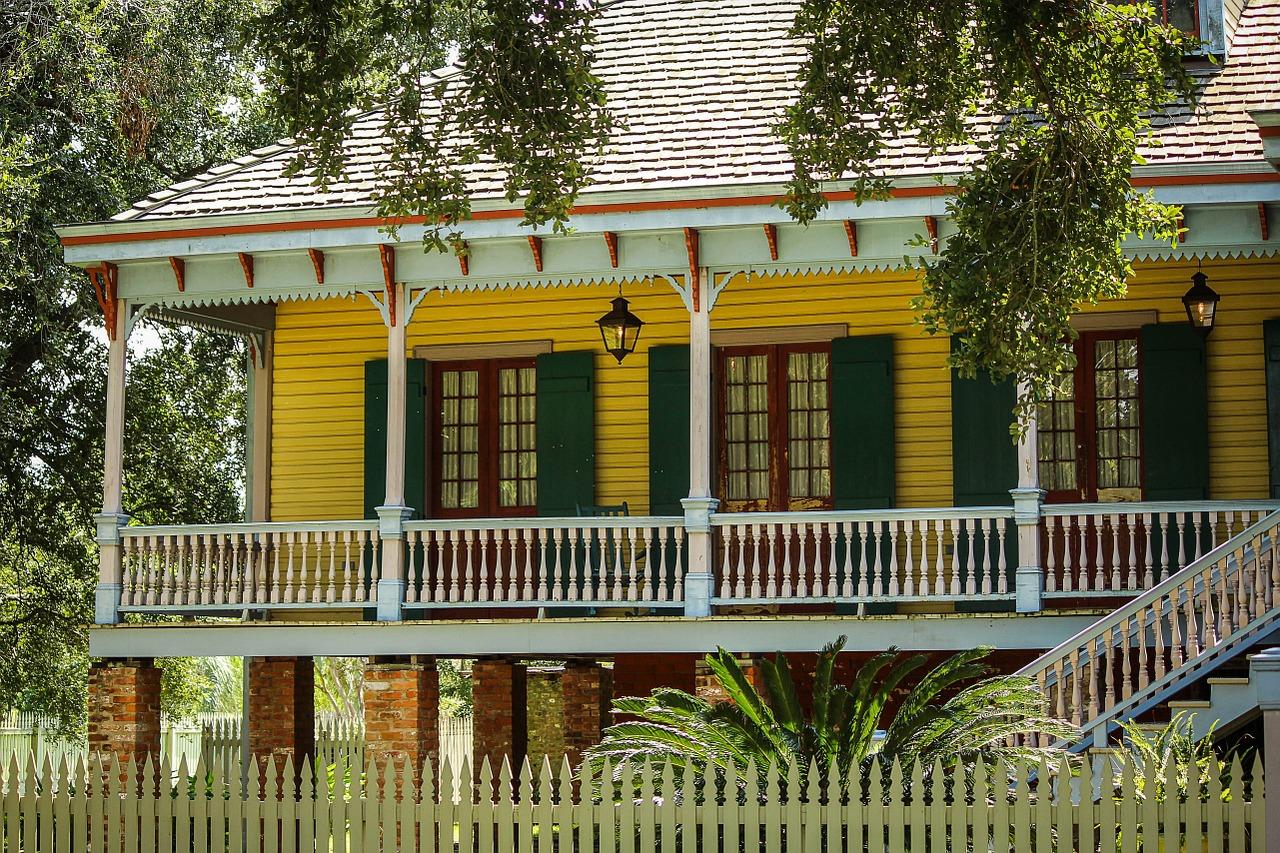 Bâtiment de la plantation Laura en Louisiane