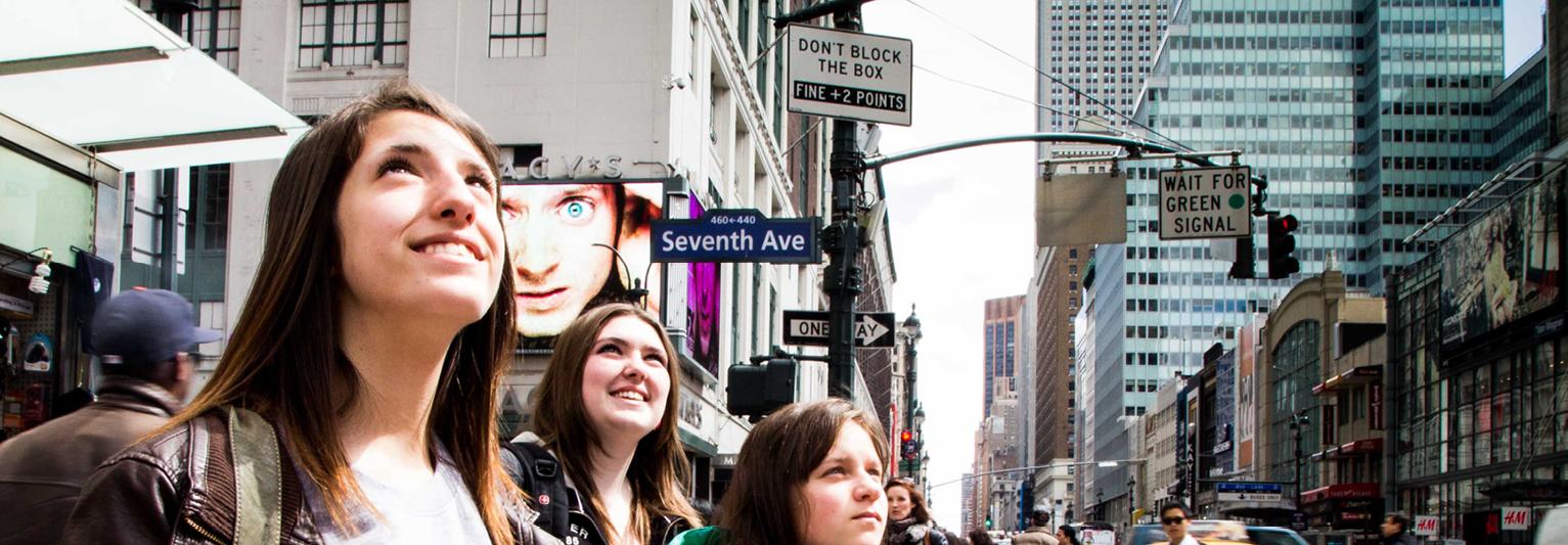 Etudiantes à New York
