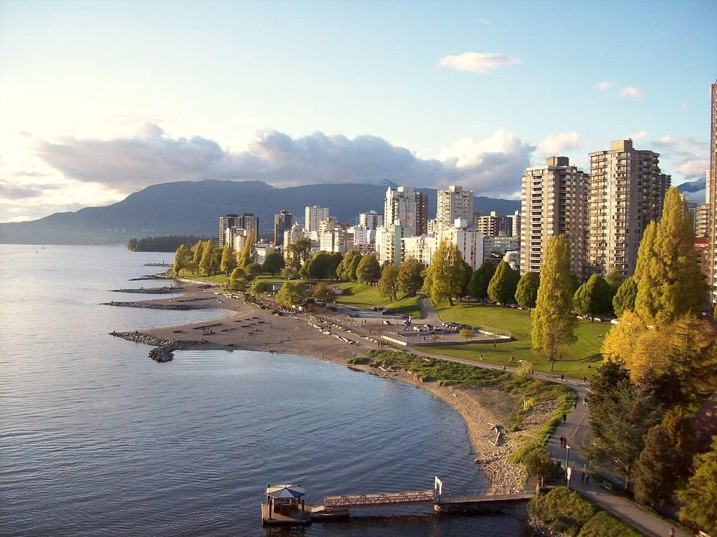 Vue sur English Bay à Vancouver