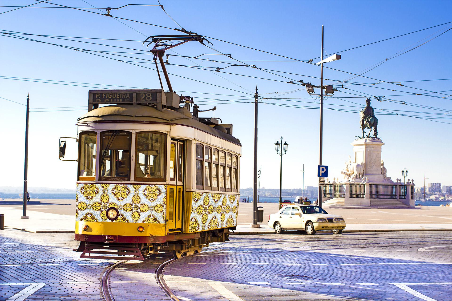 Célèbre tramway de Lisbonne